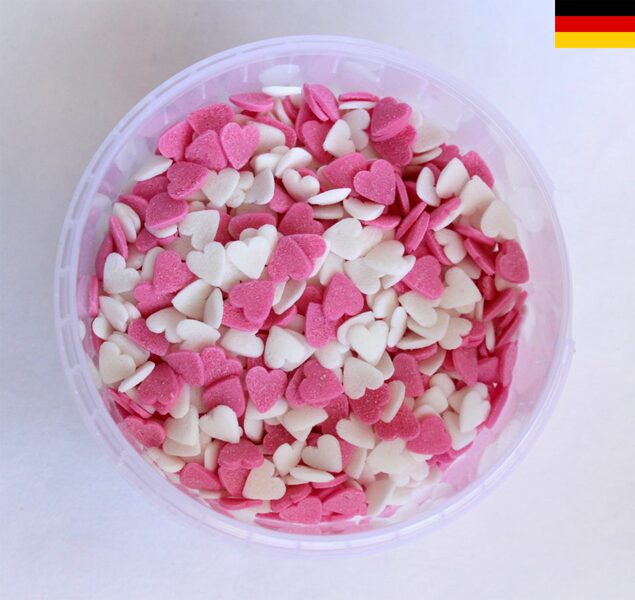 Hearts white/pink 150g