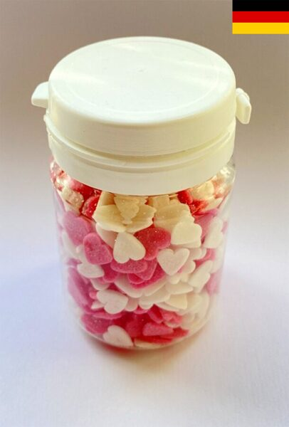 Hearts white/pink 40g