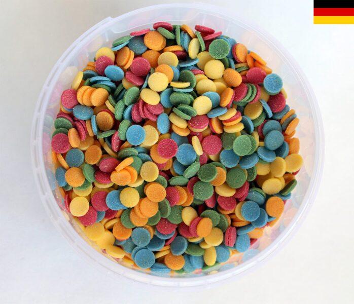 Confetti 6mm 5-colours, 150g