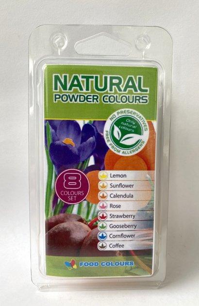 Natural colour set 8 x 3g